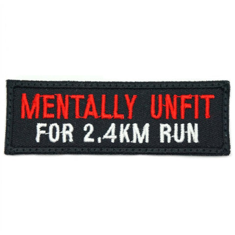 MENTALLY UNFIT PATCH - BLACK RED - Hock Gift Shop | Army Online Store in Singapore