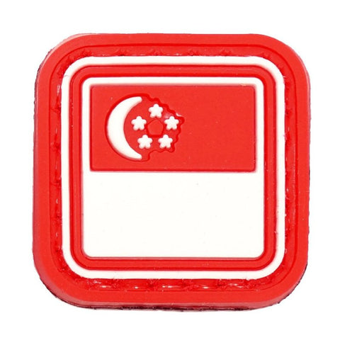 MINI PVC SINGAPORE FLAG - RED - Hock Gift Shop | Army Online Store in Singapore
