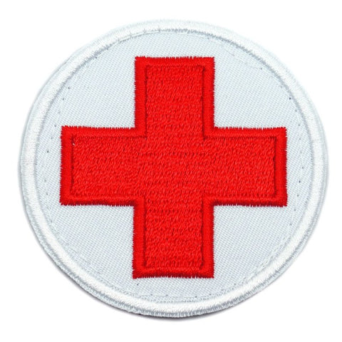MINI ROUND MEDIC CROSS PATCH - Hock Gift Shop | Army Online Store in Singapore