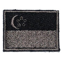 SINGAPORE FLAG - BLACK FOLIAGE (MINI) - Hock Gift Shop | Army Online Store in Singapore