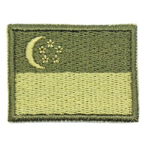 SINGAPORE FLAG - GREEN BORDER (MINI) - Hock Gift Shop | Army Online Store in Singapore