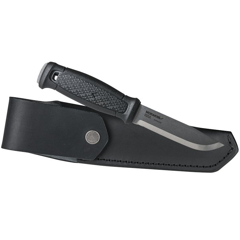 MORAKNIV GARBERG LEATHER SHEATH - STAINLESS STEEL (12635) - Hock Gift Shop | Army Online Store in Singapore