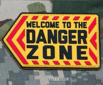 MSM DANGER ZONE PVC - FULL COLOR - Hock Gift Shop | Army Online Store in Singapore