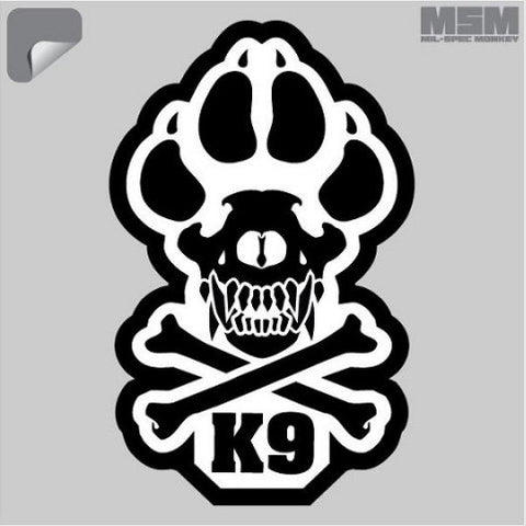 "MSM K9 DECAL - 3.75"" X 6"" - Hock Gift Shop 