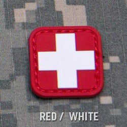 MSM MEDIC SQUARE 1 INCH PVC - RED/WHITE - Hock Gift Shop | Army Online Store in Singapore