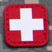 MSM MEDIC SQUARE 2 INCH PVC - RED/WHITE - Hock Gift Shop | Army Online Store in Singapore