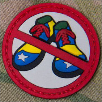 MSM NO CLOWN SHOES PVC - FULL COLOR - Hock Gift Shop | Army Online Store in Singapore