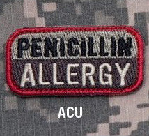 MSM PENICILLIN ALLERGY  - ACU - Hock Gift Shop | Army Online Store in Singapore