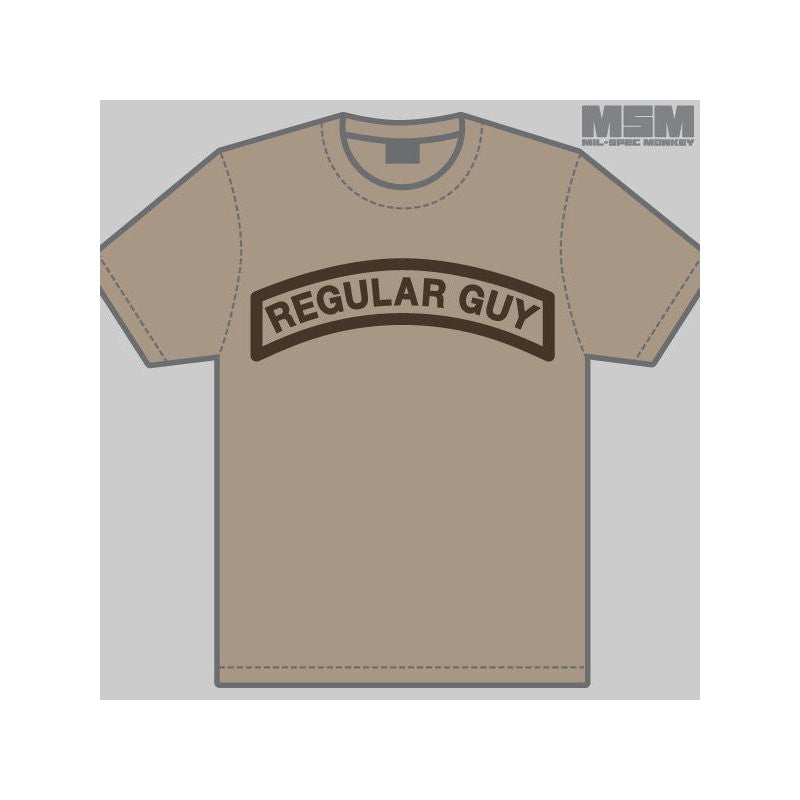 MSM REGULAR GUY T-SHIRT - DUSTY BROWN - Hock Gift Shop | Army Online Store in Singapore