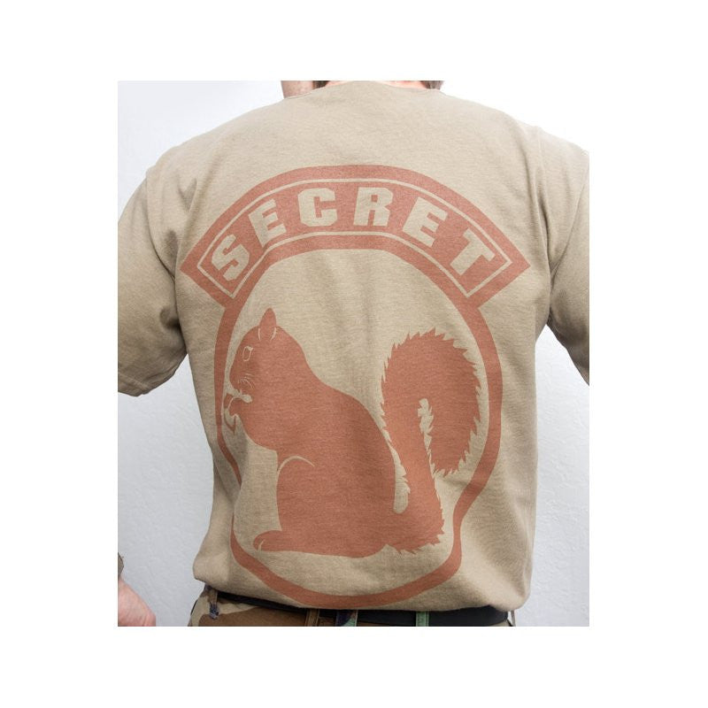 MSM SECRET SQUIRREL T-SHIRT - DUSTY BROWN - Hock Gift Shop | Army Online Store in Singapore