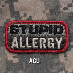 MSM STUPID ALLERGY - ACU - Hock Gift Shop | Army Online Store in Singapore