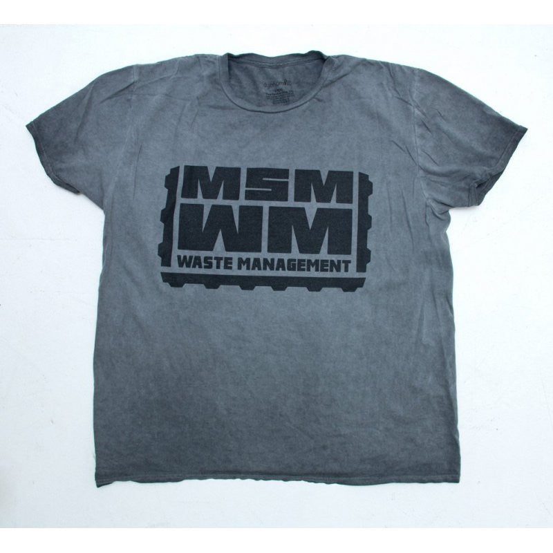 MSM WASTE MANAGEMENT T SHIRT - DISTRESSED GREY - Hock Gift Shop | Army Online Store in Singapore