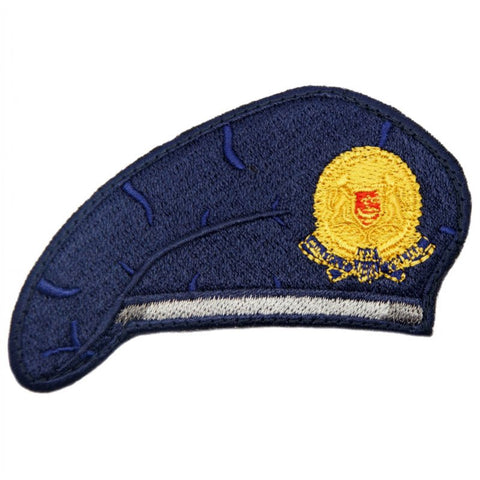 NAVY BLUE BERET PATCH - MILITARY POLICE - Hock Gift Shop | Army Online Store in Singapore