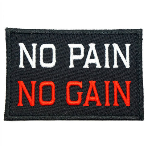 NO PAIN NO GAIN PATCH - BLACK