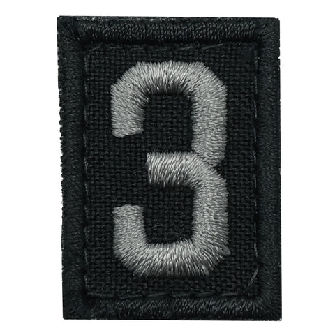 HGS NUMBER 3 PATCH - BLACK FOLIAGE