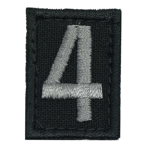 HGS NUMBER 4 PATCH - BLACK FOLIAGE