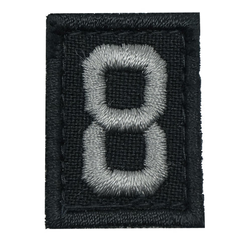 HGS NUMBER 8 PATCH - BLACK FOLIAGE