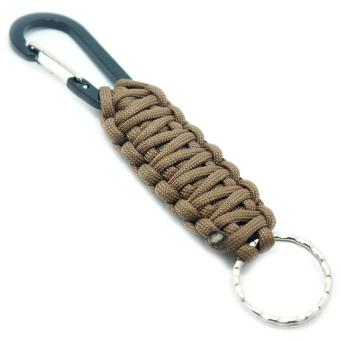 PARACORD KEYCHAIN WITH CARABINER - COYOTE - Hock Gift Shop | Army Online Store in Singapore