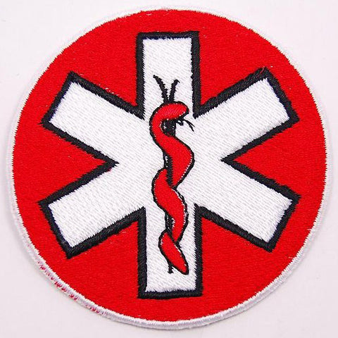 PARAMEDIC SNAKE WING PATCH - RED - Hock Gift Shop | Army Online Store in Singapore
