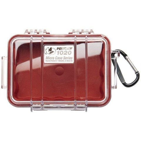 PELICAN 1020 MICRO CASE - CLEAR RED LINER - Hock Gift Shop | Army Online Store in Singapore