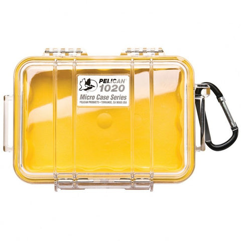 PELICAN 1020 MICRO CASE - CLEAR YELLOW LINER - Hock Gift Shop | Army Online Store in Singapore