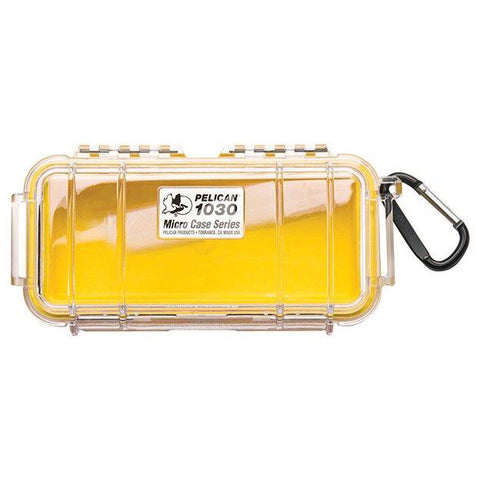 PELICAN 1030 MICRO CASE - CLEAR YELLOW LINER - Hock Gift Shop | Army Online Store in Singapore