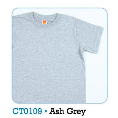 HGS PLAIN T-SHIRT - ASH GREY - Hock Gift Shop | Army Online Store in Singapore