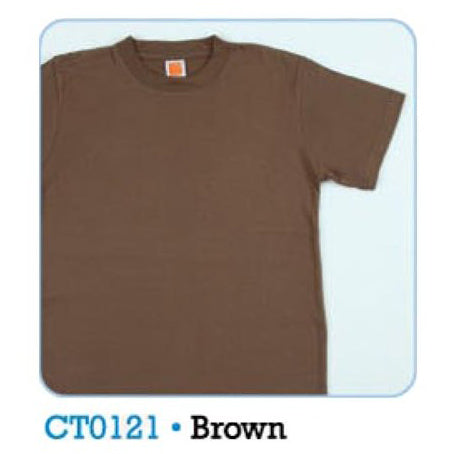 HGS PLAIN T-SHIRT - BROWN - Hock Gift Shop | Army Online Store in Singapore