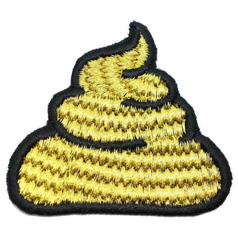 POO PATCH - METALLIC GOLD - Hock Gift Shop | Army Online Store in Singapore