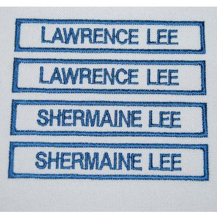 PRE-SCHOOL NAME TAG EMBROIDERY (5PCS) - Hock Gift Shop ...