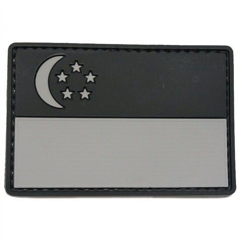 PVC SINGAPORE FLAG - LARGE (BLACK FOLIAGE) - Hock Gift Shop | Army Online Store in Singapore
