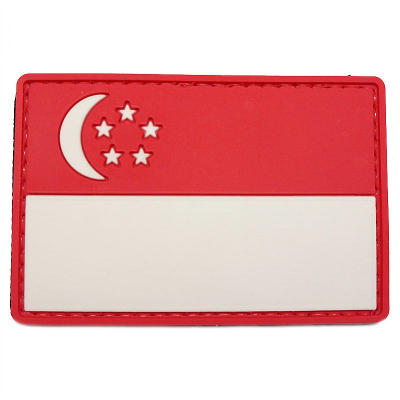 PVC SINGAPORE FLAG - LARGE (FULL COLOR) - Hock Gift Shop | Army Online Store in Singapore