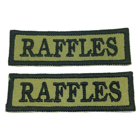 RAFFLES NCC SCHOOL TAG - 1 PAIR - Hock Gift Shop | Army Online Store in Singapore
