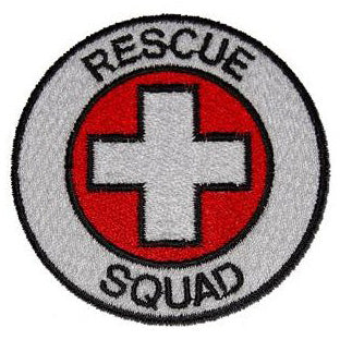 RESCUE SQUAD PATCH - RED - Hock Gift Shop | Army Online Store in Singapore