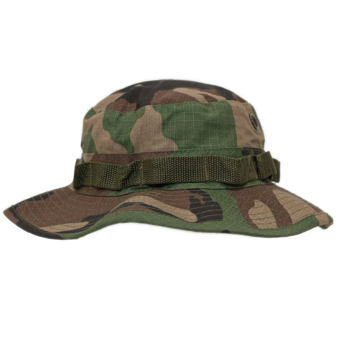 7cd353a0937 ROTHCO 100% COTTON RIP-STOP BOONIE HAT - WOODLAND CAMO - Hock Gift Shop