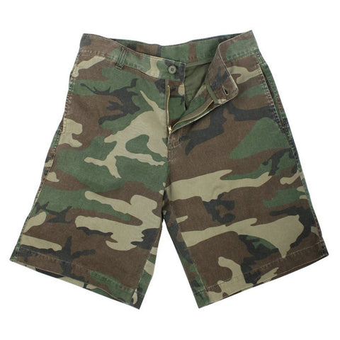 ROTHCO 5 POCKET FLAT FRONT SHORTS - WOODLAND - Hock Gift Shop | Army Online Store in Singapore