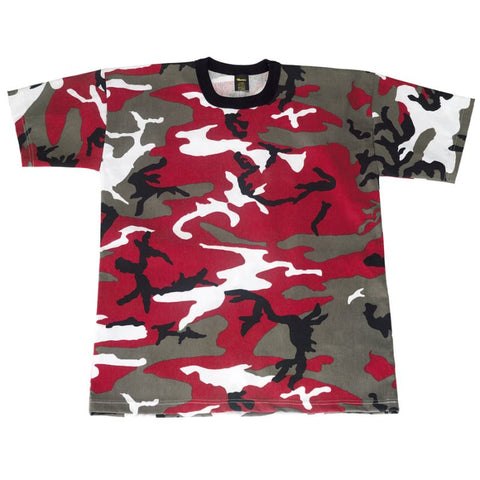ROTHCO CAMO T-SHIRT - RED CAMO - Hock Gift Shop | Army Online Store in Singapore