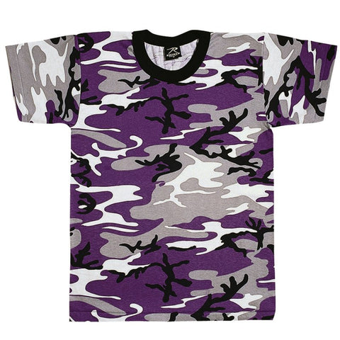 ROTHCO CAMO T-SHIRT - ULTRA VIOLET CAMO - Hock Gift Shop | Army Online Store in Singapore