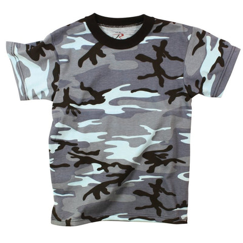 ROTHCO CAMO T-SHIRT - SKY BLUE CAMO - Hock Gift Shop | Army Online Store in Singapore