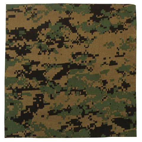 ROTHCO COLORED CAMO BANDANA - WOODLAND DIGITAL CAMO - Hock Gift Shop | Army Online Store in Singapore