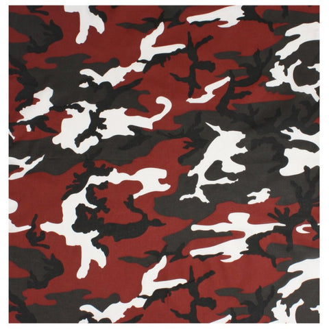 ROTHCO COLORED CAMO BANDANA - RED CAMO - Hock Gift Shop | Army Online Store in Singapore