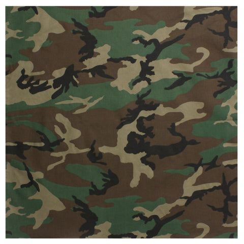 ROTHCO COLORED CAMO BANDANA - WOODLAND CAMO - Hock Gift Shop | Army Online Store in Singapore