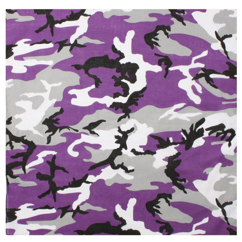 ROTHCO COLORED CAMO BANDANA - ULTRA VIOLET CAMO - Hock Gift Shop | Army Online Store in Singapore