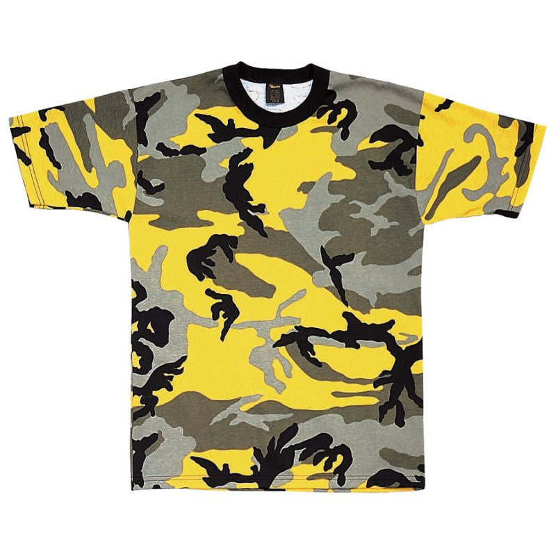 ROTHCO CAMO T-SHIRT - YELLOW STINGER CAMO - Hock Gift Shop | Army Online Store in Singapore