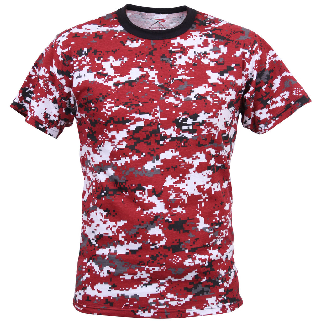 ROTHCO CAMO T-SHIRT - DIGITAL RED CAMO - Hock Gift Shop | Army Online Store in Singapore