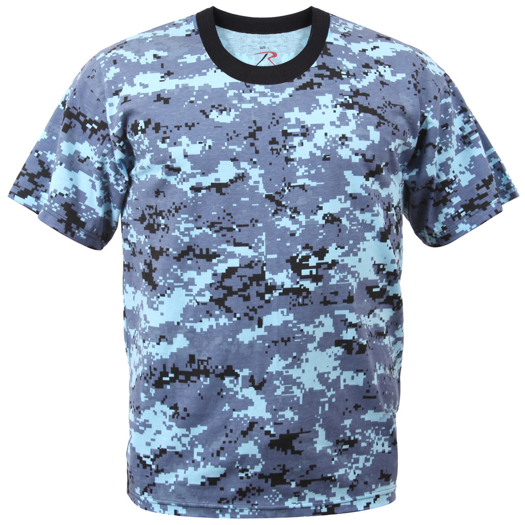 ROTHCO CAMO T-SHIRT - DIGITAL SKY BLUE - Hock Gift Shop | Army Online Store in Singapore