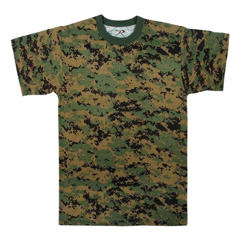 ROTHCO CAMO T-SHIRT - WOODLAND DIGITAL CAMO - Hock Gift Shop | Army Online Store in Singapore