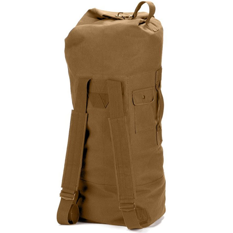 aac8cb1c8e26 ROTHCO G.I. STYLE CANVAS DOUBLE STRAP DUFFLE BAG - COYOTE - Hock Gift Shop  | Army Online Store in Singapore