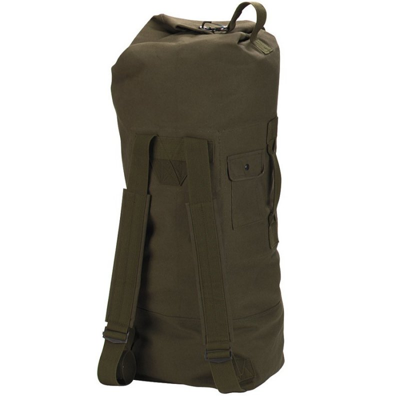 ROTHCO G.I. STYLE CANVAS DOUBLE STRAP DUFFLE BAG - OD GREEN - Hock Gift Shop | Army Online Store in Singapore