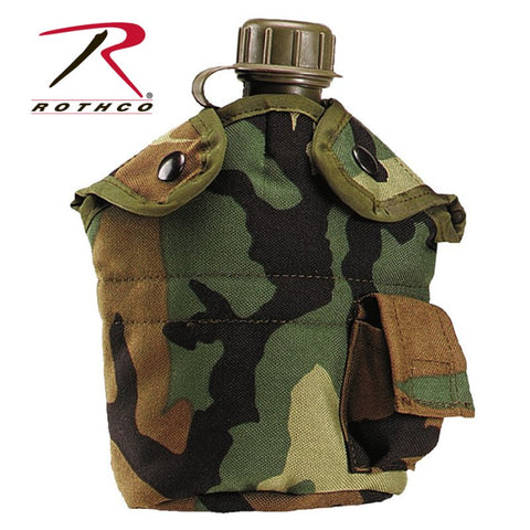 ROTHCO G.I. TYPE ENHANCED NYLON 1QT. CANTEEN COVER - CAMO - Hock Gift Shop | Army Online Store in Singapore